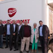 Vertreter von Freisings SPD-Fraktion und Stadtverband mit Vertretern von Transgourmet in Schweitenkirchen